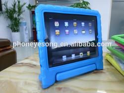 kids anti shock EVA foam free stand case cover for ipad 3 4