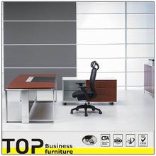 Well-designed L Shape Teak Veneer Modern Office Executive Desk