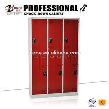 modern bedroom 6 door blue electronic 6-door steel code lockers