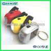 Mini hand crank led dynamo light