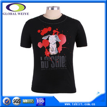 Custom nice funny sublimation logo 100 cotton 200 gsm t-shirts