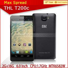 original THL T200c 6 inch 1280*720 3G Smart phone MTK6592 octa core 1.7GHz Android 4.2 13.0MP brand handphone