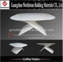 pure whtie elegant coffee/tea table furnitue for salon