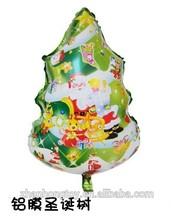 china supplier good price christmas tree shape foil mylar balloons wholesale