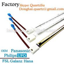 Gold coating halogen heating with quartz tube