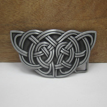 Fashion celtic belt buckle with pewter finish FP-03390 in stock wholesale available 50pcs per order can be mixed