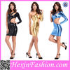 Wholesale Erotic Colorful Shiny Catsuit Costume Leather