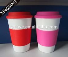 Promotional 16oz ceramic travel mugs logo
