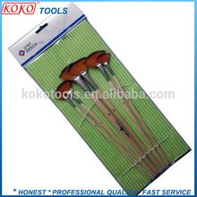 Fan top synthetic hair wooden handle makeup artist brush