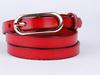 Red women jean belts fashion belt skinny women leather belt