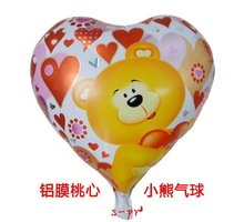 china supplier good quality printed heart shape foil mylar balloons for wedding decoration