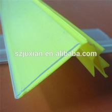 supermarket/store display shelves tag/label holder PVC strip