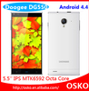 """DOOGEE DAGGER DG550 5.5"""" IPS OGS MTK6592 Octa Core 1.7GHz Cell Phones Android 4.4 1GB RAM 16GB ROM 13.0MP GPS 3G Phone"""