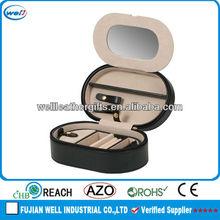 black fine leather jewelry box