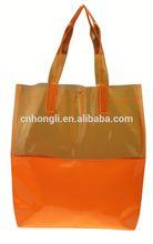 2014 Latest design plastic clear pvc button tote bags