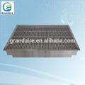 de metal y piso de aire rejilla de ventilación