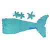 Baby Newborn Knit Crochet Aqua Blue Pearl Ariel Mermaid Photo Prop 3pcs Costume