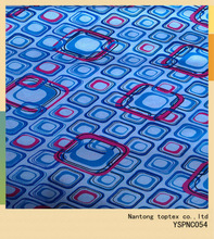 100%cotton white background blue and red printed fabric / twill fabric / shirt fabric / soft hand feel