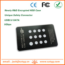 HUA001-SU3 Factory Direct Selling USB3.0 SATA External Digital Encrypted HDD Case/Housing for External Hardisk