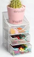 2015 Funny New Design Metal Mesh Wire Office Stationery Desk Organizer/Desk Storage With Drawer
