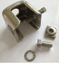 """stainless steel universal angle adapter, two 3/4"""" hole"""