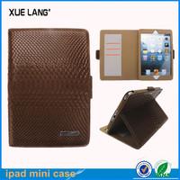 Wholesale leather bags for apple ipad mini 1/2