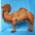 Peluche de noël vente chaude personnalisé en cuir main de chameau