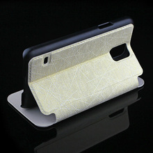 From China Supplier Mobile Accessories For Samsung S5 Smart Phone Protection Stand Leather Case