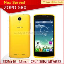 In Stock Multi Color Smart Phone ZOPO ZP580 512MB/4GB Dual Sim 3G 1700MHz brand mobile phone original