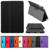 FL347 twill jean stand leather cover for ipad 5