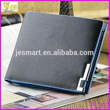 High Quality Brand Blue Edge Best Men's PU Leather Wallet Purse Credit Card Holder Bifold Wallet