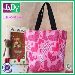 2014 hot sale canvas tote bag printed cotton canvas bag waterproof ladies casual bags