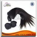 Extensão de cabelo malaio virgem, não-processado e liso