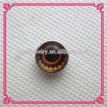 latest design fashion alloy glass cat's eyes snap button bracelet charms