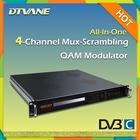 Multiplexer Scrambler QAM Modulator/All-in-one broadcast 4*QAM digital RF output multiplexer scrambler qam modulator