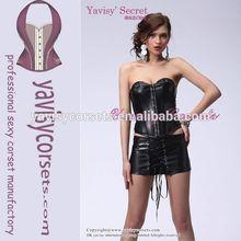 factory price wholesale black corset leather