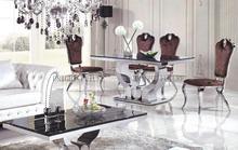 Negro color de comedor mesa de comedor mesa de muebles para el hogar