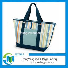 Reusable Stripe Shoulder Canvas Shopping Bag