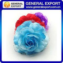 2014 newest chiffon customize pink fabric flowers wholesale handmade flower