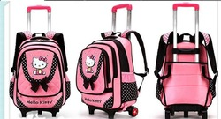 Trolley Luggage For Girls Kids Backpacks With Wheel