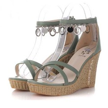 SE1004 The New Wedge Sandals Wholesale Low Price Ladies Sandals New Wedding Shoes Fish Mouth