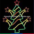 led de la cuerda con motivos de luz del árbol de navidad con la luz