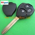 Di alta qualità toyota yaris chiave per toyota chiave vuoto/caso per toyota yaris chiave shell