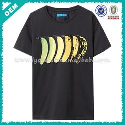 Fruit/Banana Print Bulk Plain T Shirts OEM (lyt-060030)