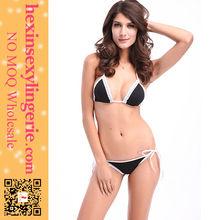 Latest design cheap black sex bra bikini triangles