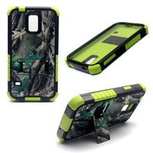 Real tree camo case PC+silicone case for samsung galaxy s5 i9600