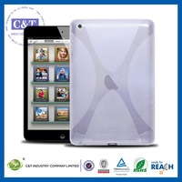 C&T White frosted jelly x design tpu protective case &cover for ipad mini