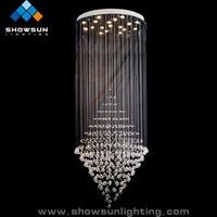 art deco led stair crystal light fixtures