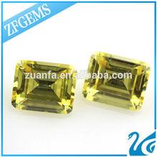 8*10mm treated enhance loose polished diamond emerald cut afghanistan