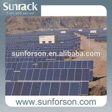Concrete based ground solar mounting frame